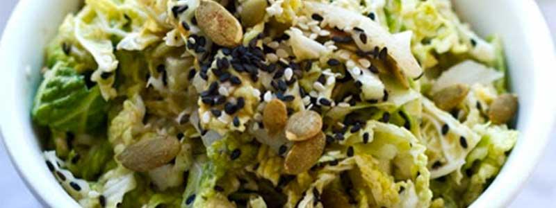 Seedy tahini coleslaw